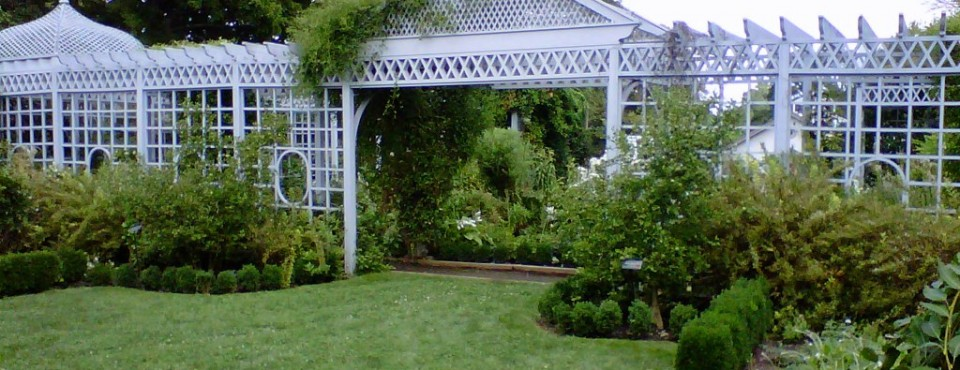 Beautiful arbors inside the Snug Harbor Botanical gardens on Staten Island's North Shore
