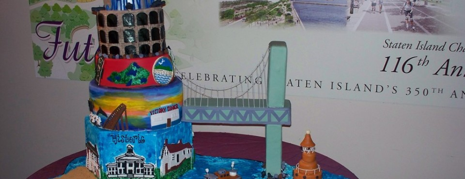 Cake Artist creation for S.I. Chamber Of Commerce ...celebrating Staten Island's 350 yr. birthday.