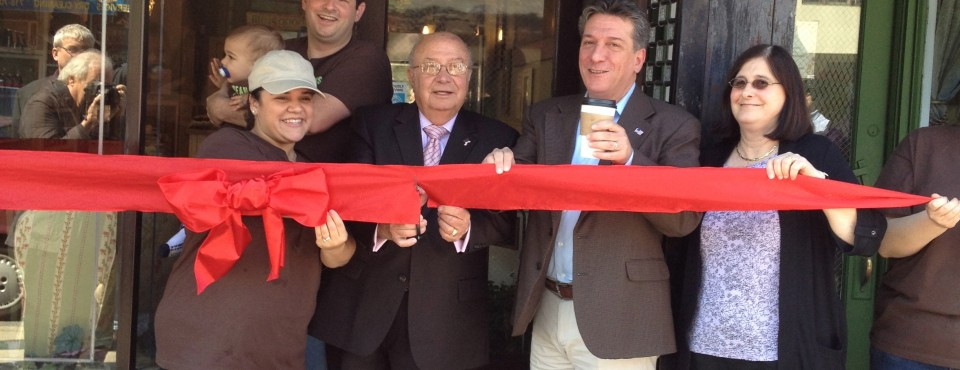 Beans & Leaves Grand Opening With Borough Pres. Molinaro on Staten Island's North Shore