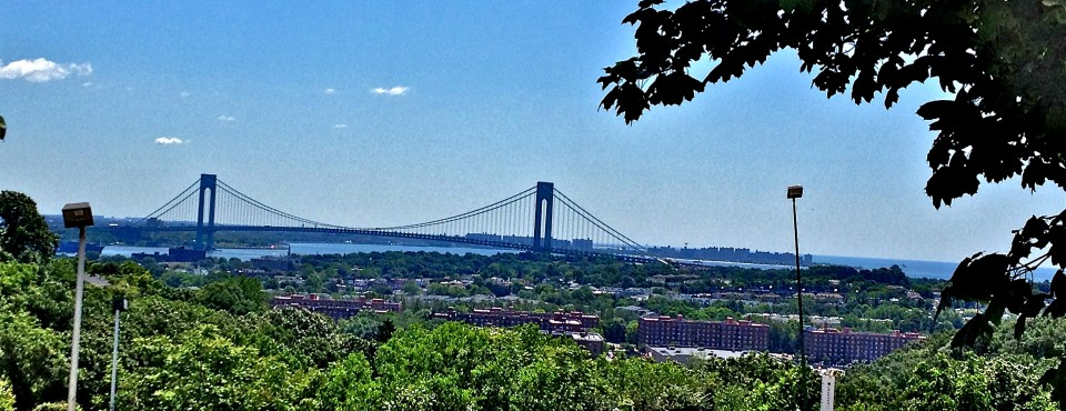 Verrazano Bridge and water views in Grymes Hill on Staten Island's North Shore.