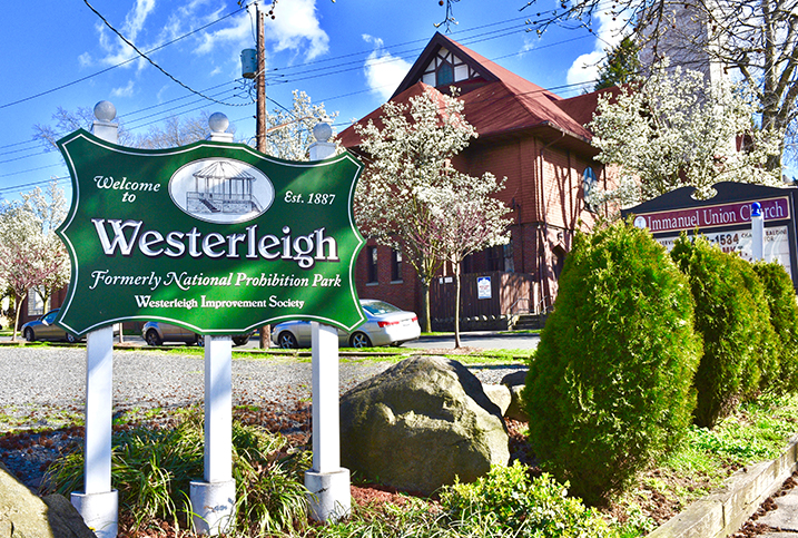 Westerleigh sign in Staten Island, NY